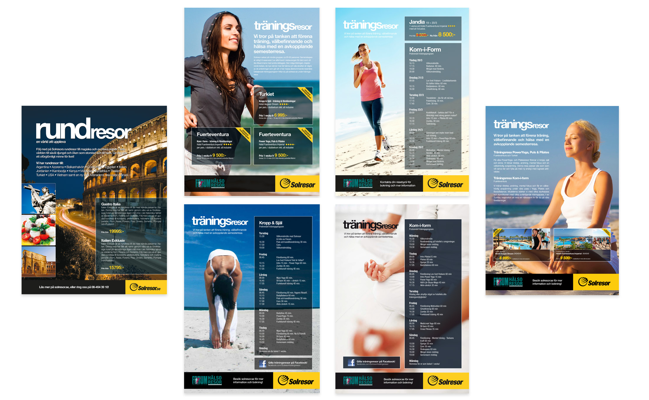 Solresor ads and posters
